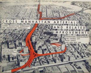 1959 brochure cover showing proposed expressway