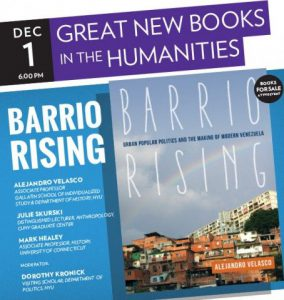 "Advertisement for event with ""Barrio Rising"" book cover"