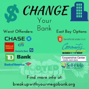 Advertisement for breakupwithyourmegabank.org