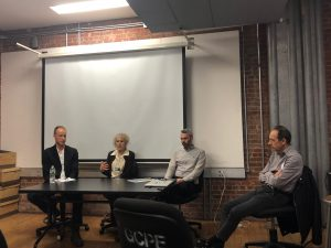 Wendy Feuer, Nick Koster, Sean Quinn and David Burney during the panel discussion