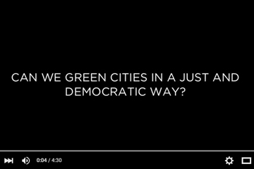 Link to video of Democratizing the Green City