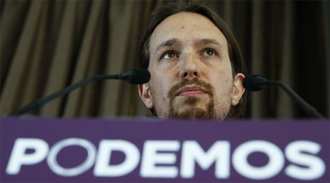 Pablo Iglesias during an event