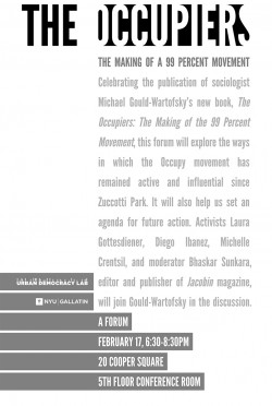 Advertisement for the event The Occupiers
