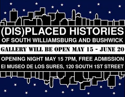 "Advertisement for the exhibit opening ""(Dis)placed Histories"""