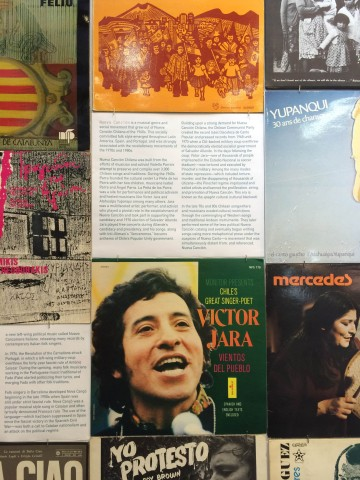 Collage of album covers and text that played a role in social movements