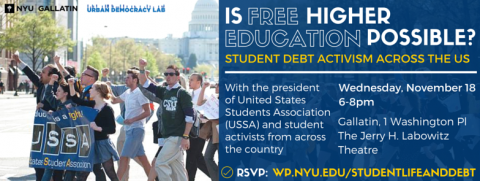 "Advertisement for ""Is Free Higher Education Possible"" event"