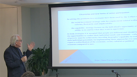 """Link to video of """"Citizenship and New Forms of Active Participation: The European Experience"""" event"""