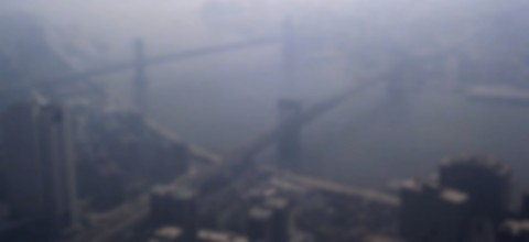 Dark haze over Manhattan