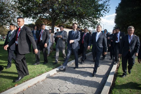Group of men in suits at UN-Habitat III