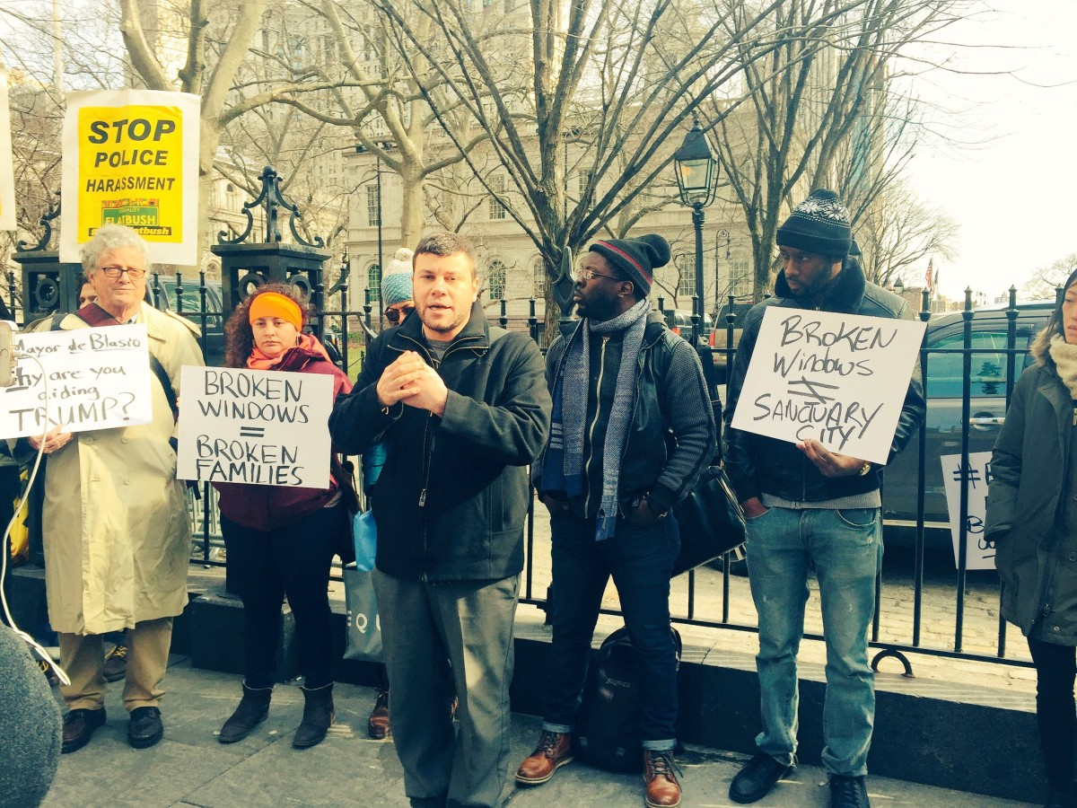 "People protest ""Broken Windows"" policing"
