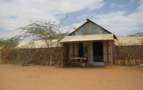 Temporary housing in Dadaab