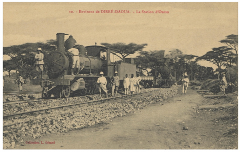 Historical photo of the Ethiopia-Djibouti railway