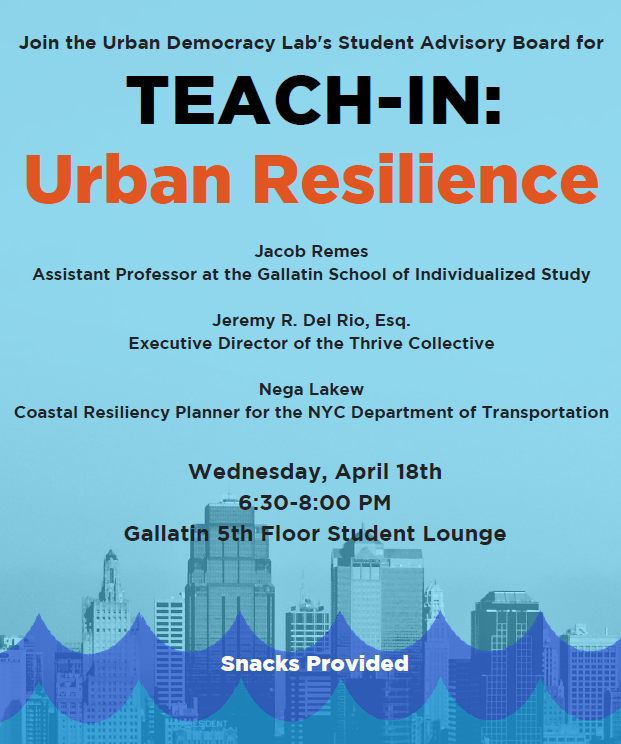 Teach-in: Urban Resilience