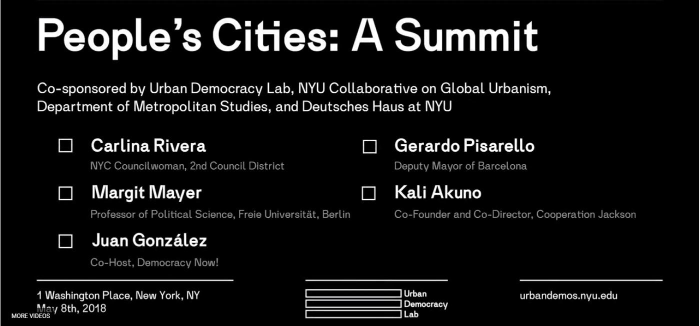 Title Card for video of People's Cities: A Summit event