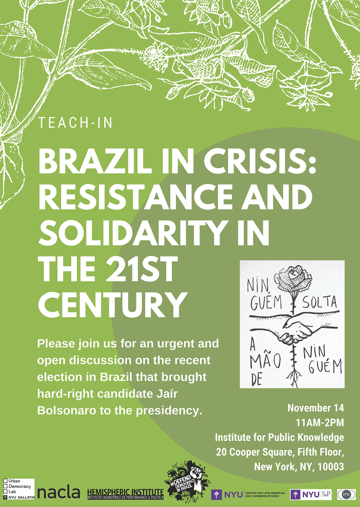 Brazil in Crisis: Resistance and Solidarity in the 21st Century (Teach-in)