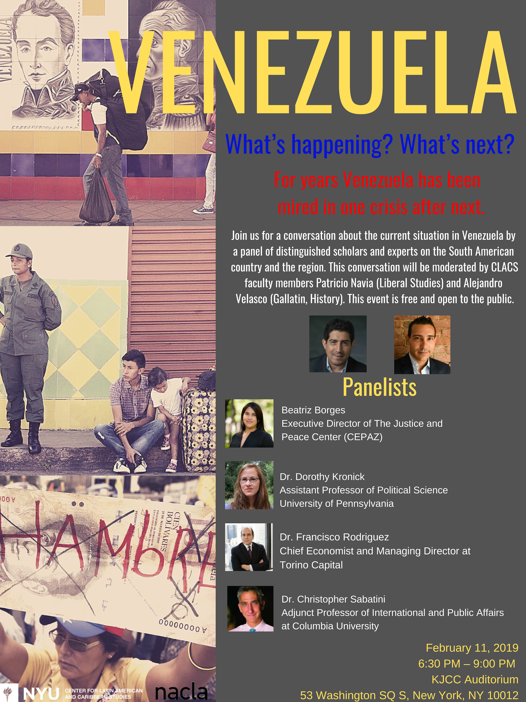 Poster of images from Venezuelan crisis