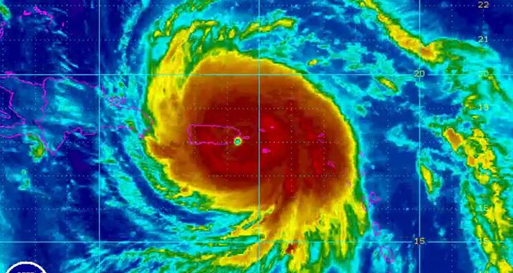 Radar image of Hurricane Maria